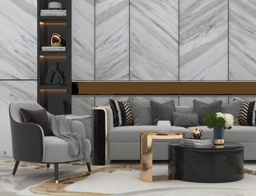 现代沙发, 沙发组合, 多人沙发