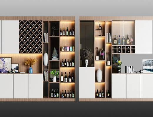 现代酒柜, 酒柜, 置物柜