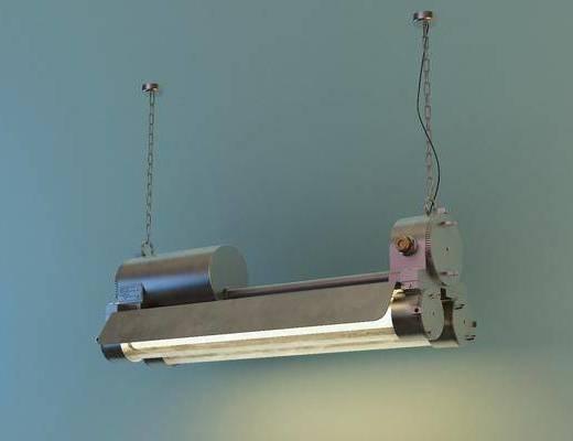 吊灯, 工业吊灯, 日光灯, 现代, 工业风