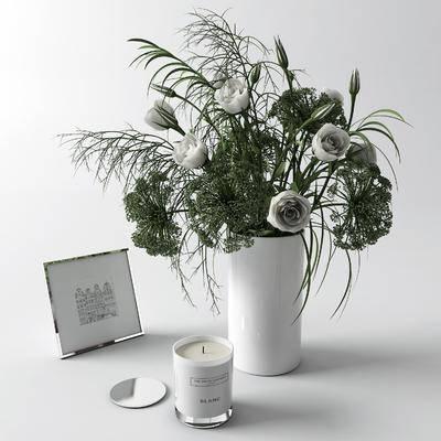 花卉, 蜡烛, 摆件组合, 花瓶, 植物