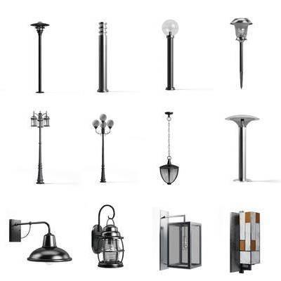 户外路灯, 草坪灯, 壁灯, 现代