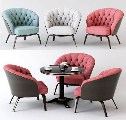 现代, 休闲, 单人沙发, 单体, 沙发组合
