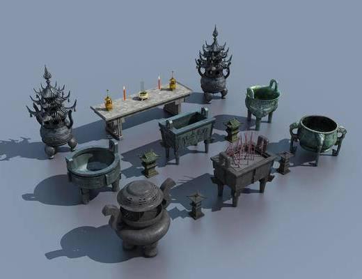 青铜鼎, 壁炉铜炉, 现代