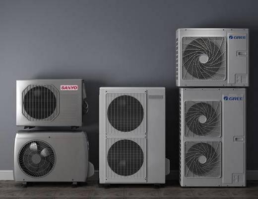 空调外机, 机器, 电器, 空调