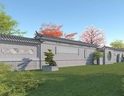 中式, 石墙