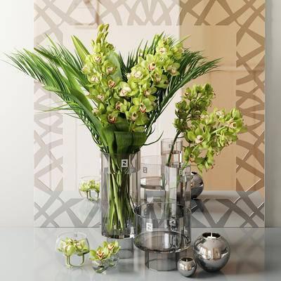 花卉, 饰品, 摆件, 镜子组合