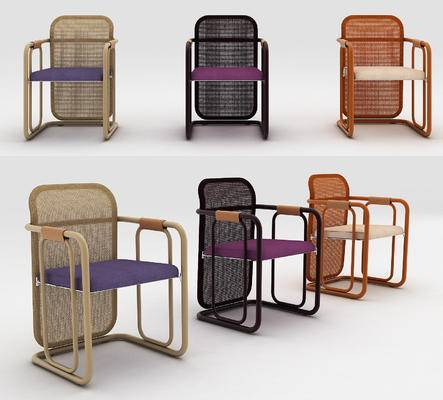 藤椅, 单椅, 单体