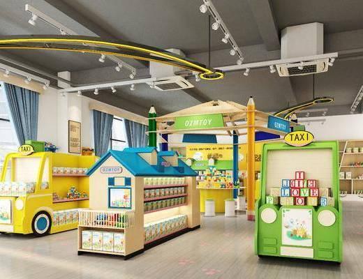 展厅, 玩具展厅, 玩具, 现代玩具展厅, 积木