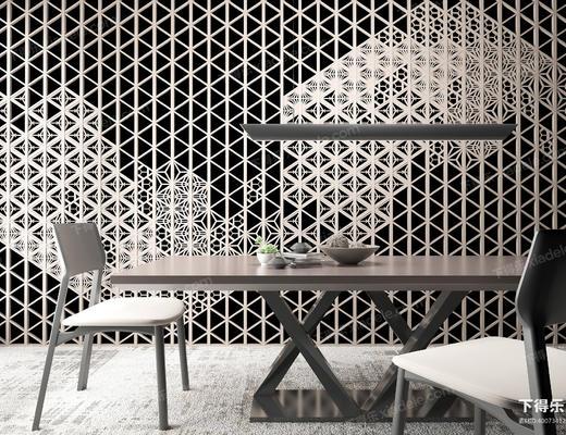 现代简约, 简约餐桌, 餐桌组合, 餐桌