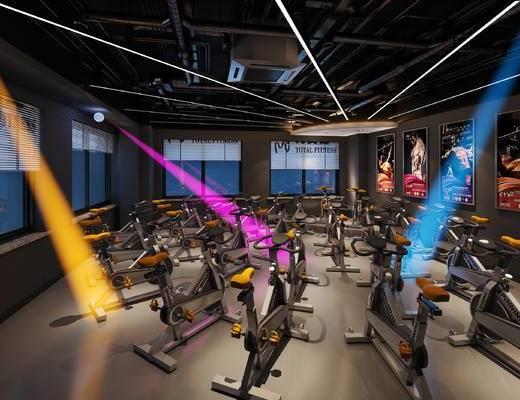工業風健身房, 健身房