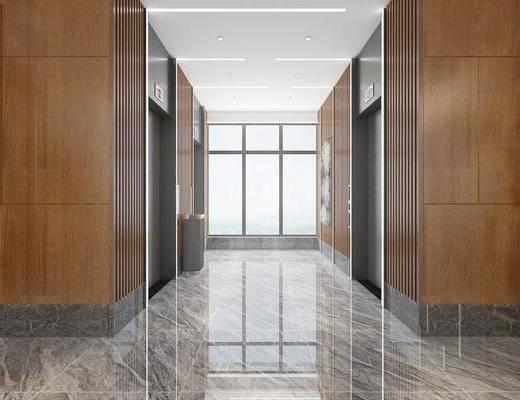 現代電梯, 電梯, 走廊過道