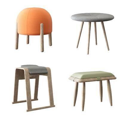 矮凳, 儿童凳, 凳子组合, 北欧