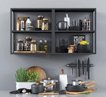 现代厨房厨具, 餐具, 调味罐