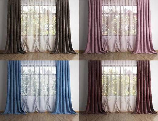 现代, 窗帘, 组合