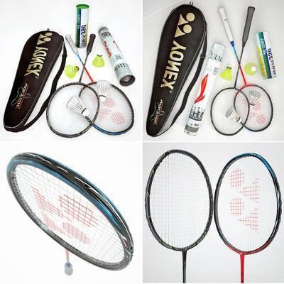 现代羽毛球羽毛球拍袋子组合, 羽毛球, 羽毛球拍, 球拍, 现代