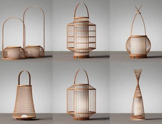 新中式, 台灯, 灯具