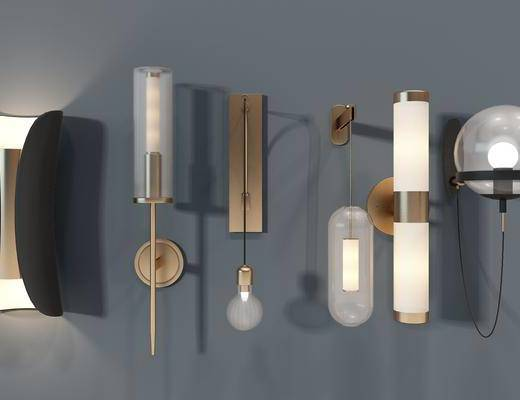 现代壁灯, 灯具