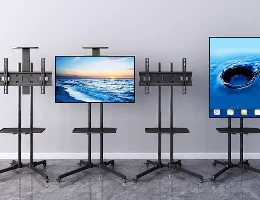 现代, 电视机, 支架, 摆件