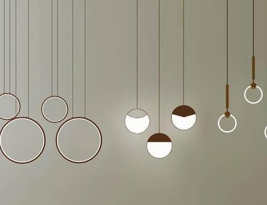 现代吊灯, 现代金属吊灯, 现代