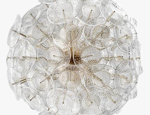 水晶, 玻璃, 现代吊灯