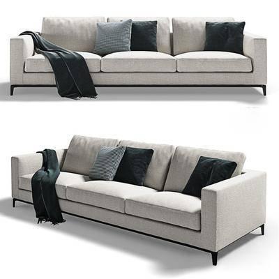 多人沙发, 布艺沙发, 现代