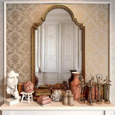 镜子, 雕塑, 饰品, 雕像
