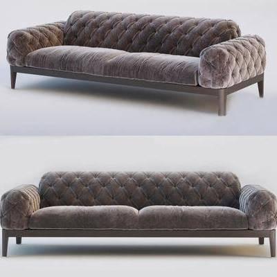双人沙发, 沙发, 现代沙发, 纯色沙发, 现代