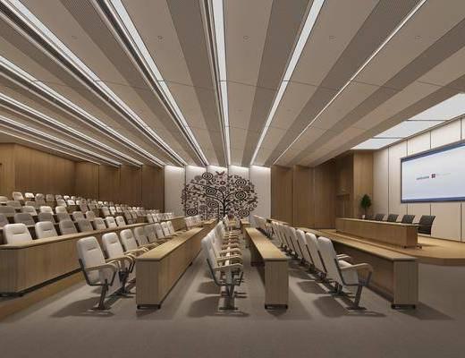 办公室, 会议室, 培训机构, 单人椅, 现代