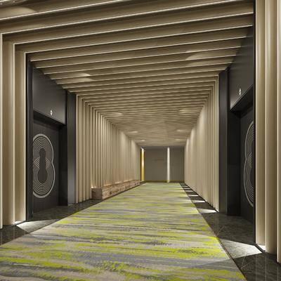 电梯, 酒店电梯过道, 商场电梯厅, 办公楼电梯厅