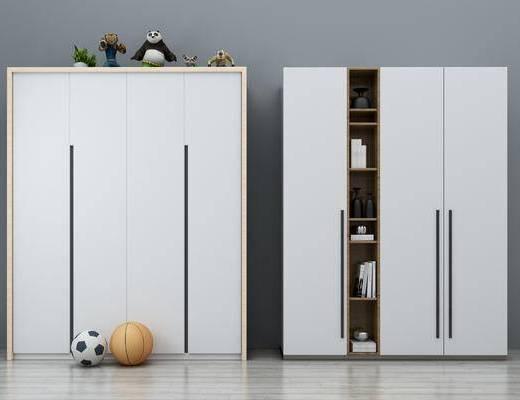 现代, 北欧, 衣柜, 足球, 陈设品