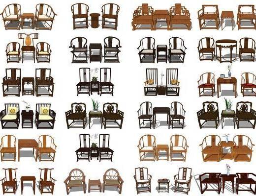 太师椅, 圈椅, 沙发椅, 休闲椅