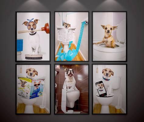 现代, 挂画, 装饰画, 动物画