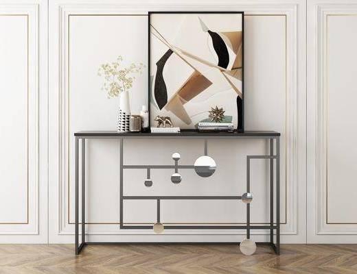 端景台, 条案, 玄关桌, 沙发背几, 装饰柜, 边柜, 背几