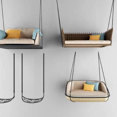 秋千椅, 秋千, 藤椅, 现代, 椅