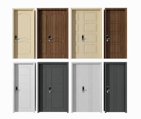 现代平开门, 平开门, 密码门, 单开门