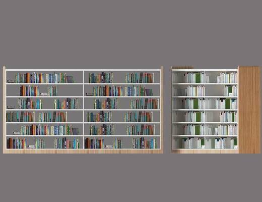 书架, 书柜, 书籍, 装饰柜, 北欧