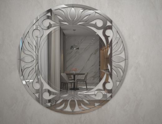 现代简约, 镜子, 装饰镜