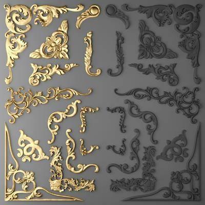 雕花, 金属, 欧式