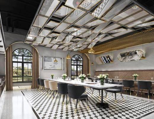 餐廳, 桌椅組合, 吊燈