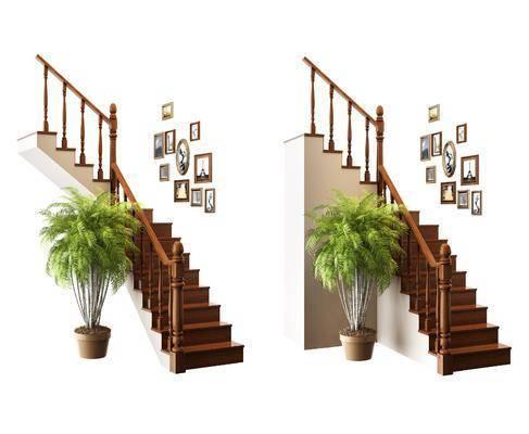 美式楼梯, 楼梯, 转折楼梯