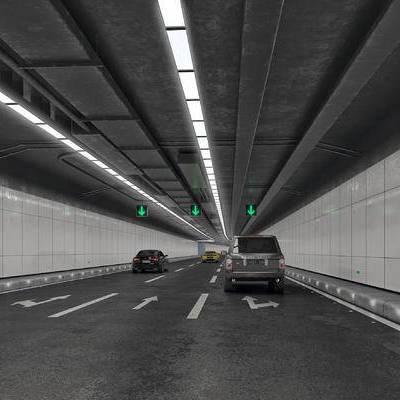 地下车库, 地下车道, 地下隧道, 写实, 公路, 直道, 隧道