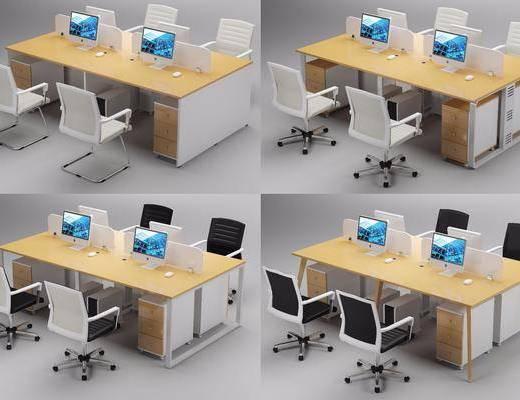 工作桌, 办公桌, 桌椅组合