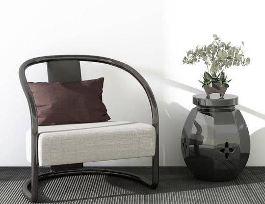 休闲椅, 新中式, 组合