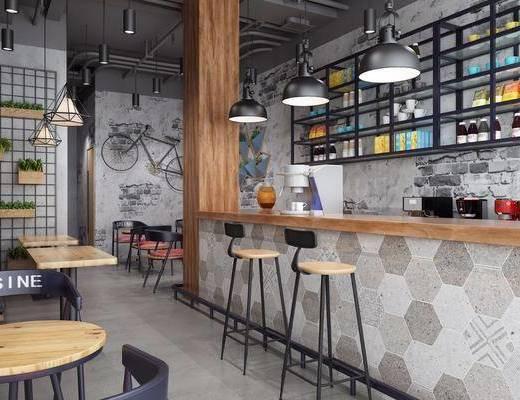 工业风餐饮, 餐饮, 咖啡厅