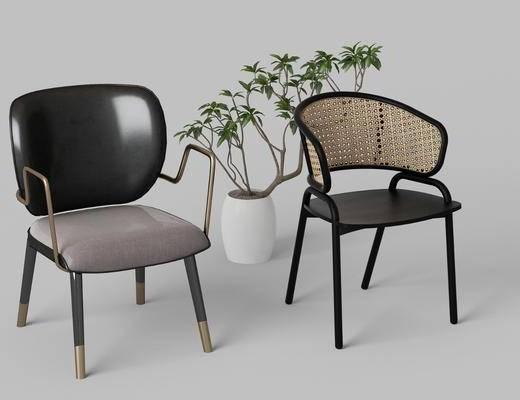 现代, 椅子, 组合