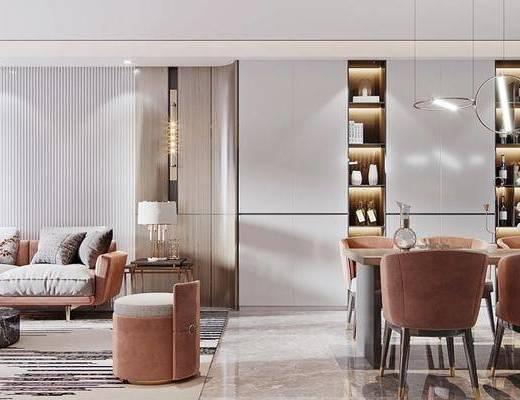 沙发组合, 茶几, 餐桌, 桌椅组合, 边几, 台灯