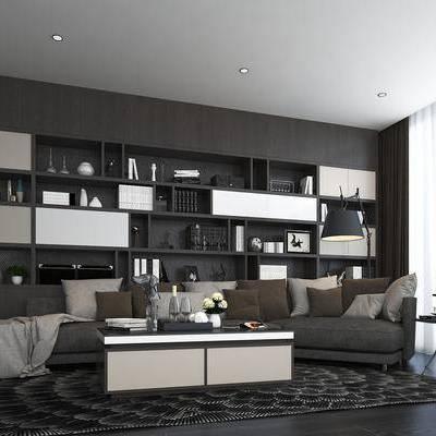 沙发组合, 沙发茶几组合, 装饰柜, 置物柜, 多人沙发, 转角沙发, 现代沙发, 茶几, 边几