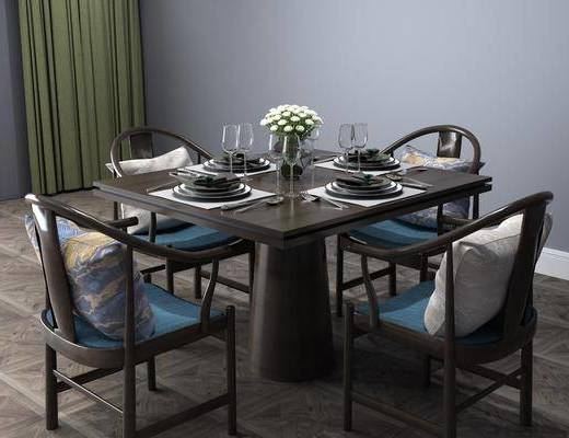 桌椅組合, 餐具組合, 中式