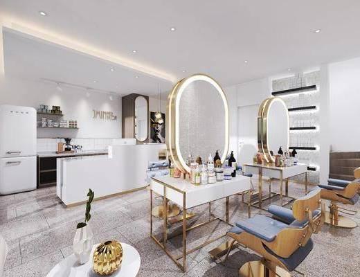 理发桌, 躺椅, 休闲沙发, 摆件组合, 装饰品