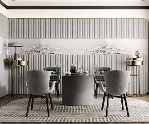 餐桌, 桌椅组合, 餐具组合, 装饰品